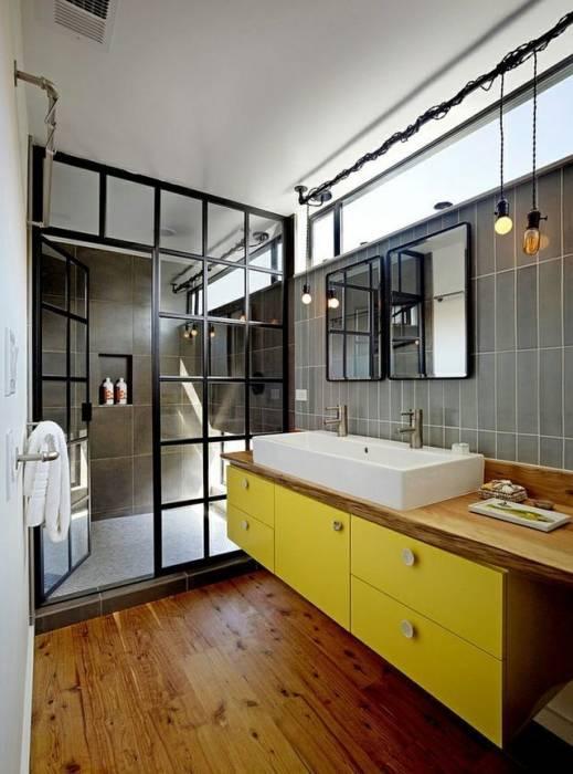 dune salle de bains dans danciens combles coin lecture baignoire baroque rouge receveur extra plat - Salle De Bain Avec Parquet Pont De Bateau